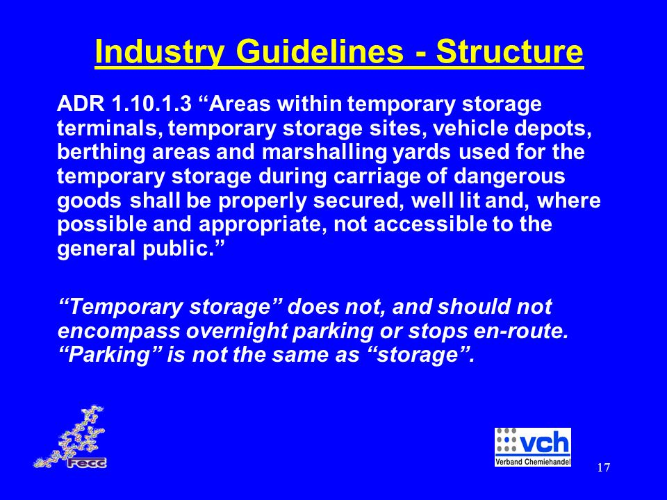 Industry Guidelines - Structure