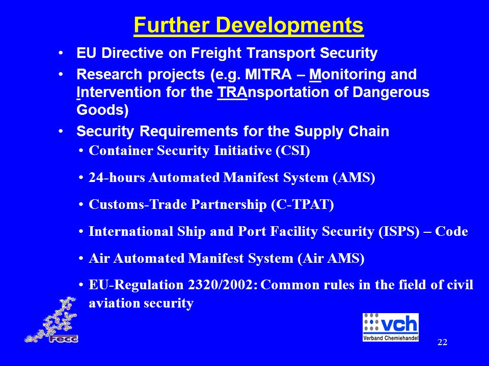 Further Developments EU Directive on Freight Transport Security