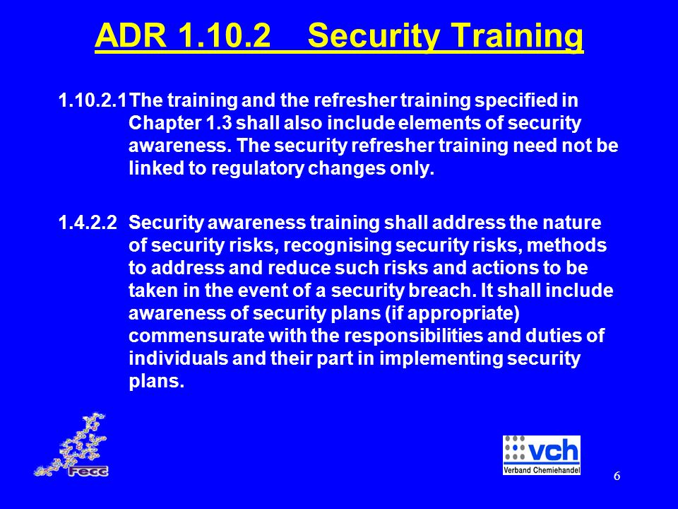ADR Security Training