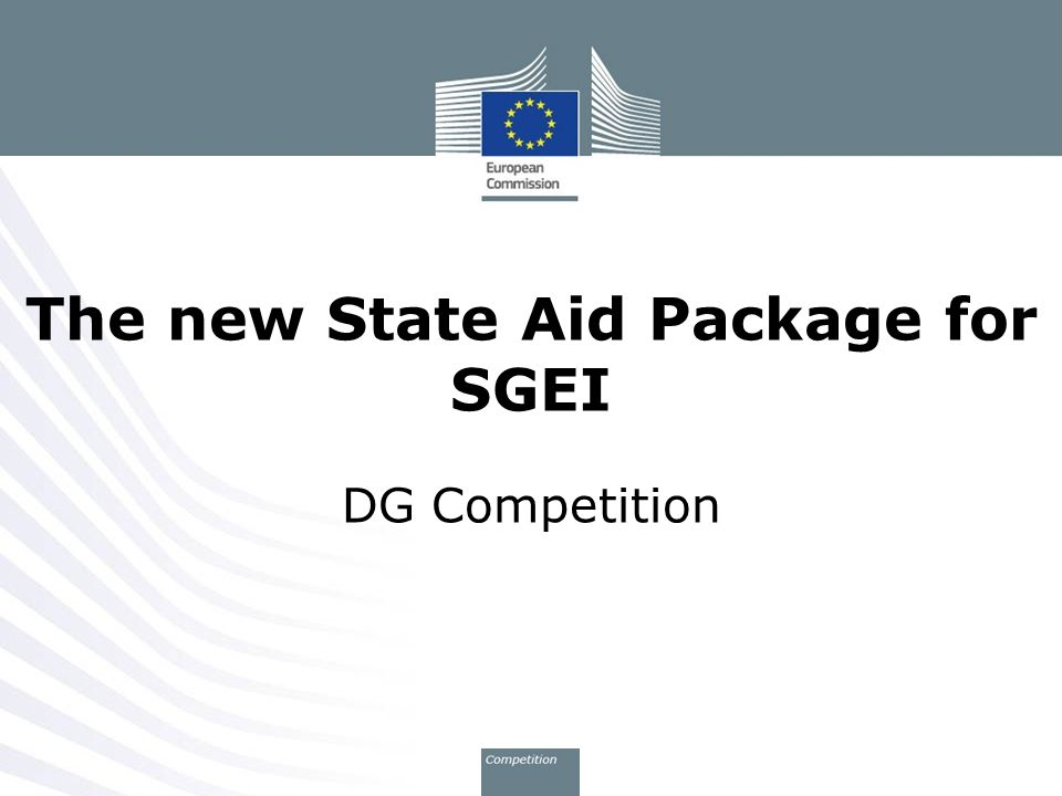 The new State Aid Package for SGEI