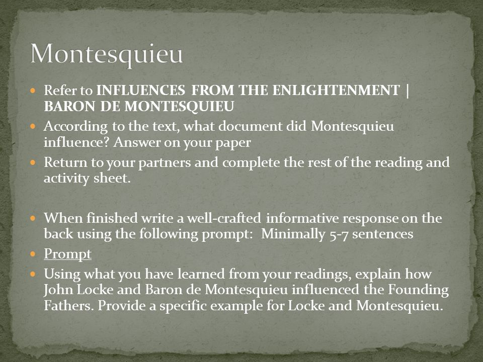 how the enlightenment influenced the founding fathers The american enlightenment was influenced by the 18th-century european enlightenment and its own native american philosophy enlightened founding fathers.
