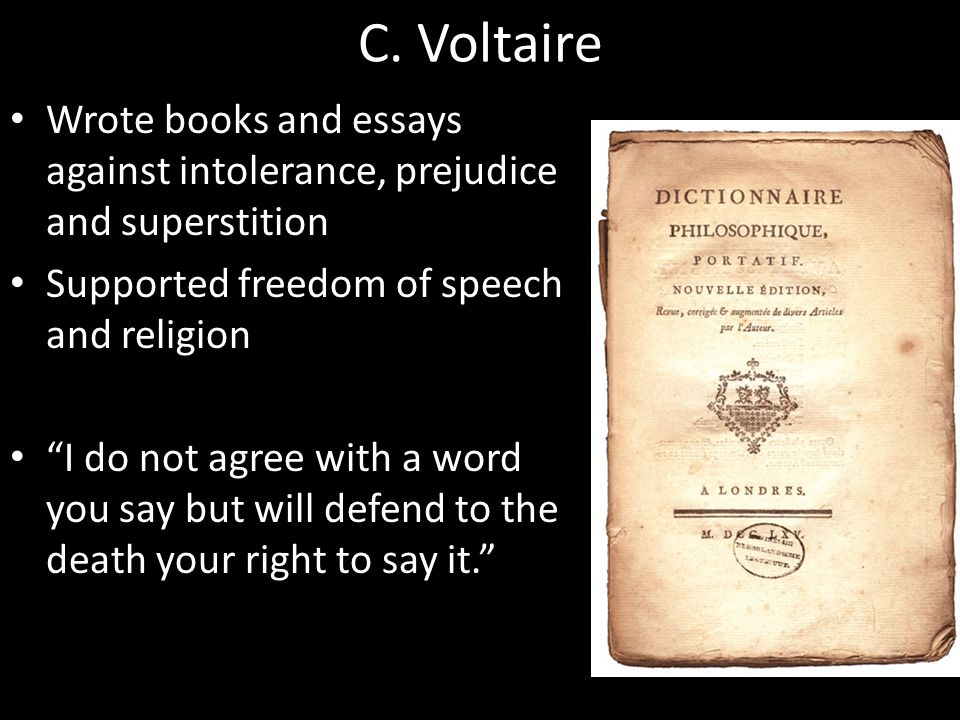 enlightenment and revolution ppt video online  c voltaire wrote books and essays against intolerance prejudice and superstition supported dom