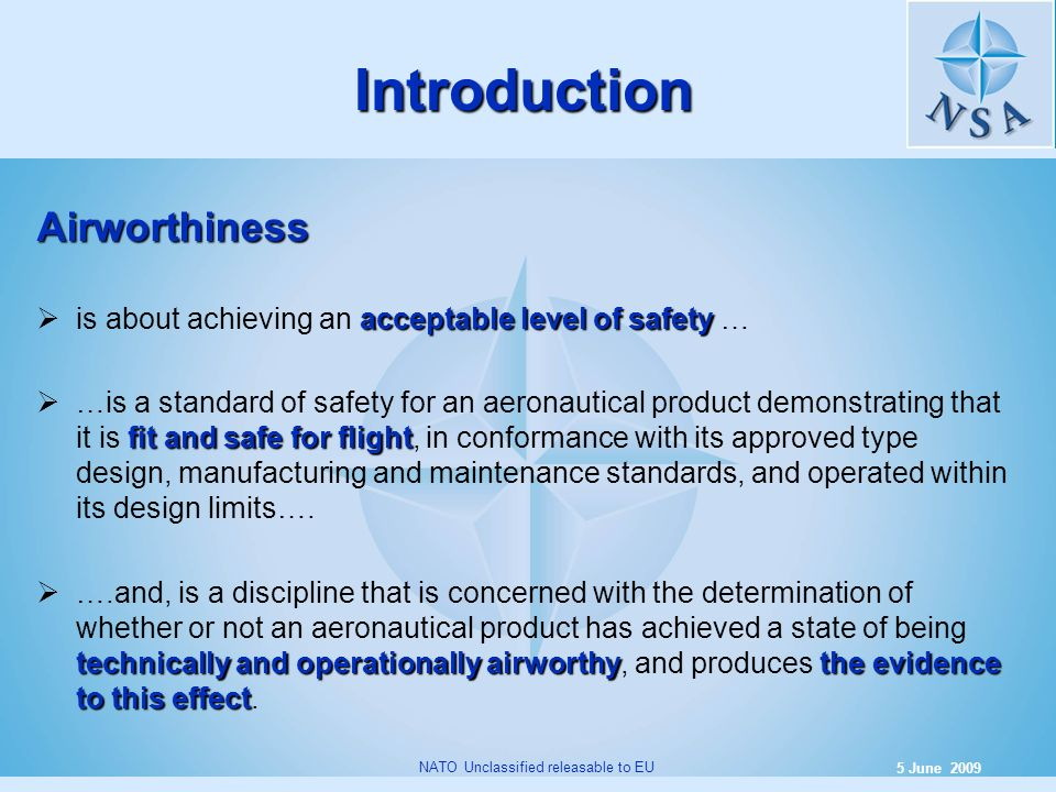 Introduction Airworthiness