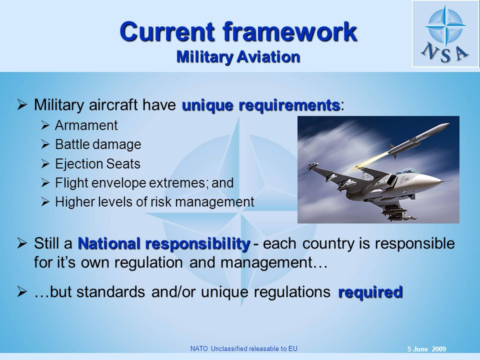 Current framework Military Aviation