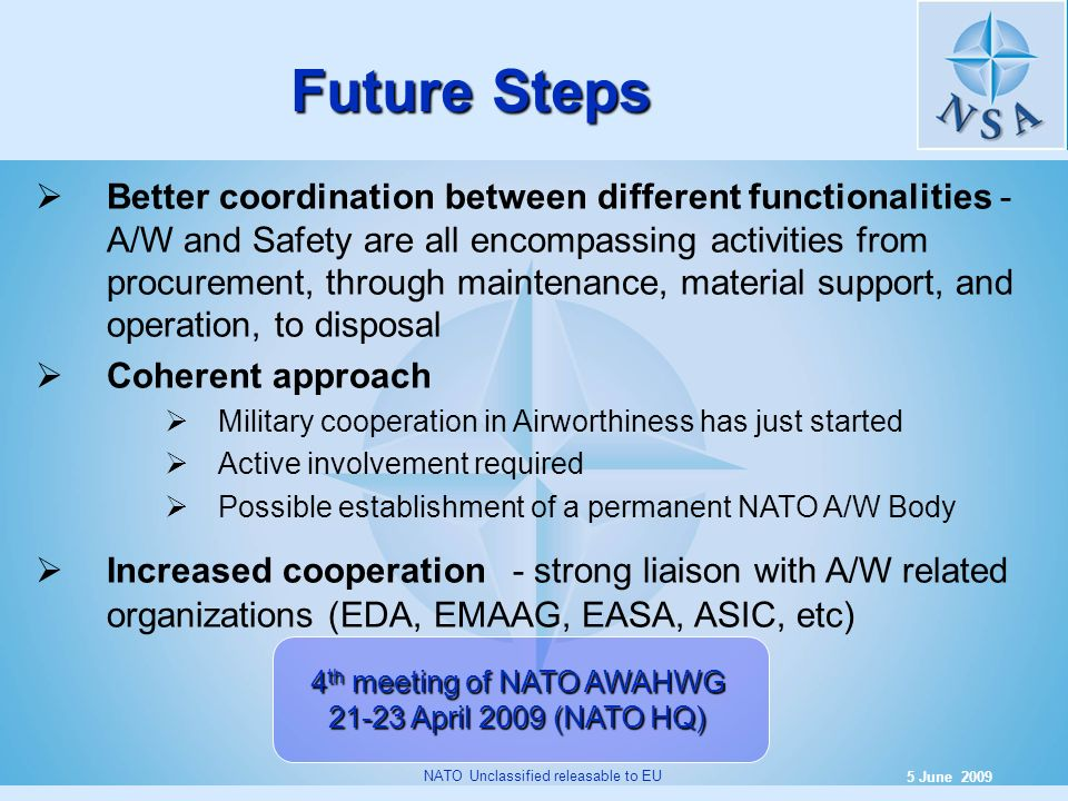 4th meeting of NATO AWAHWG