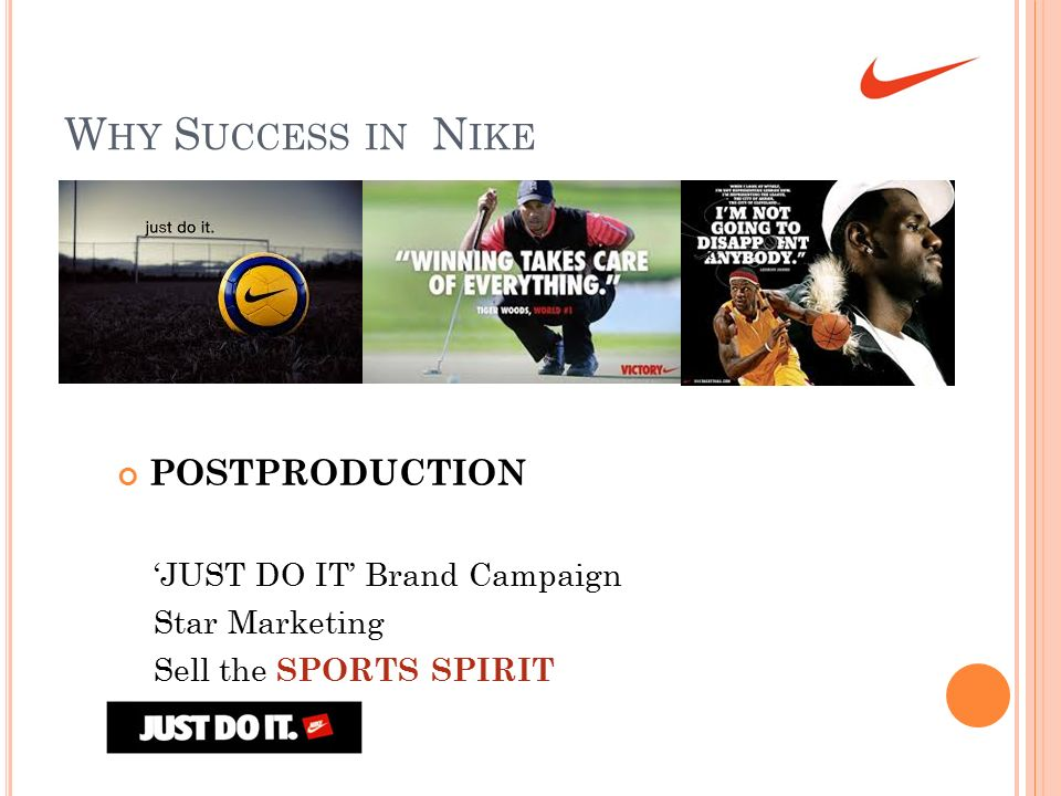 Why Success in Nike POSTPRODUCTION 'JUST DO IT' Brand Campaign