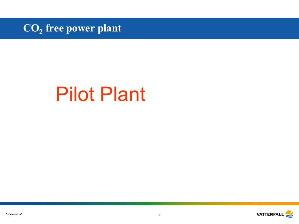 CO2 free power plant Pilot Plant
