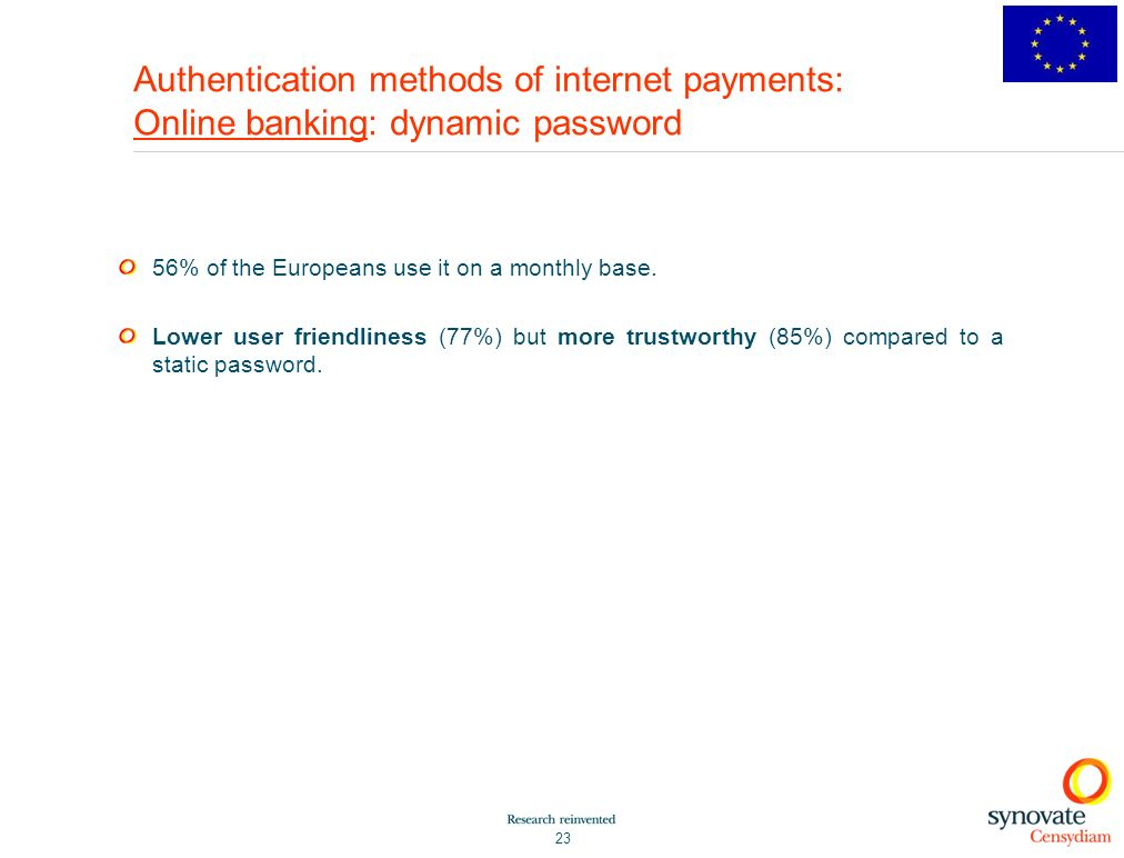 Authentication methods of internet payments: Online banking: dynamic password