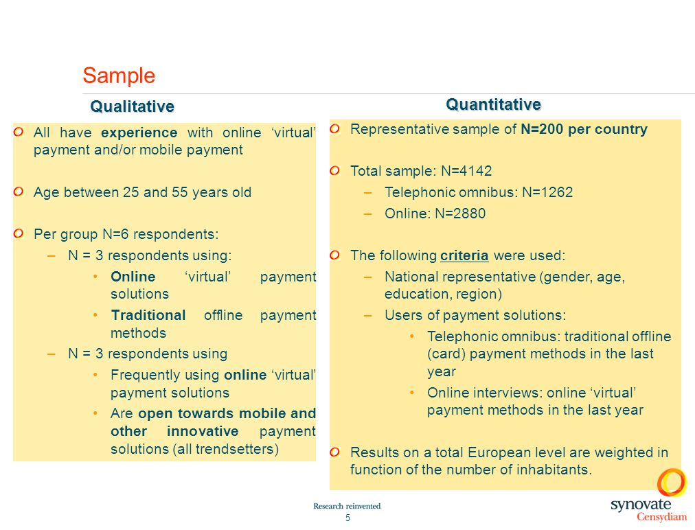 Sample Qualitative Quantitative