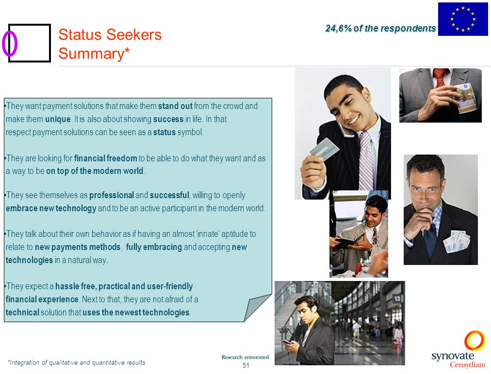 Status Seekers Summary*