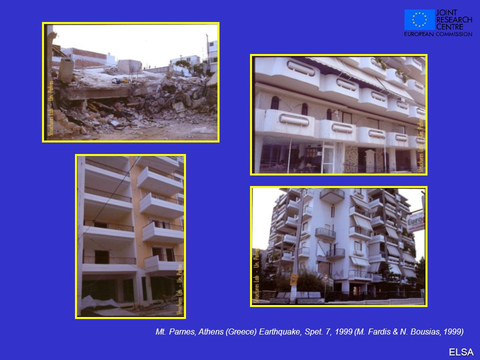 Mt. Parnes, Athens (Greece) Earthquake, Spet. 7, 1999 (M. Fardis & N