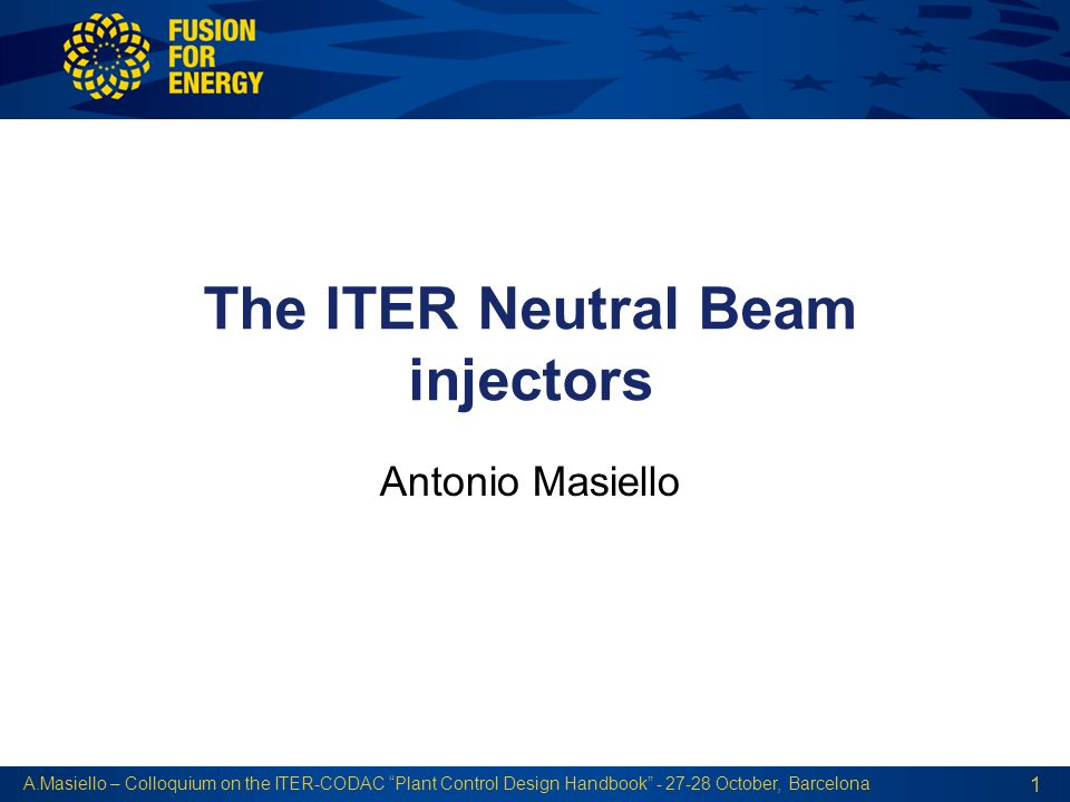 The ITER Neutral Beam injectors