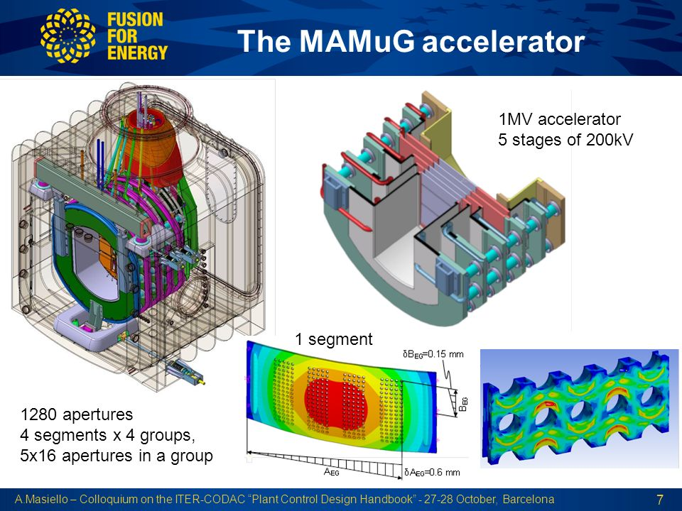 The MAMuG accelerator 1MV accelerator 5 stages of 200kV 1 segment