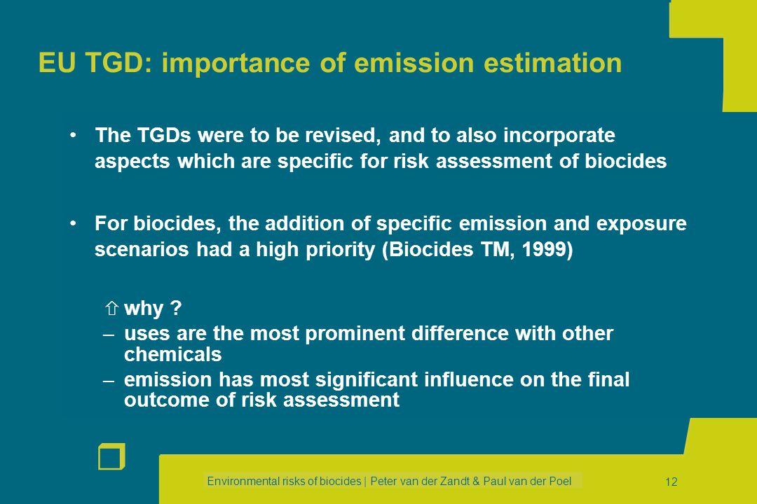 EU TGD: importance of emission estimation