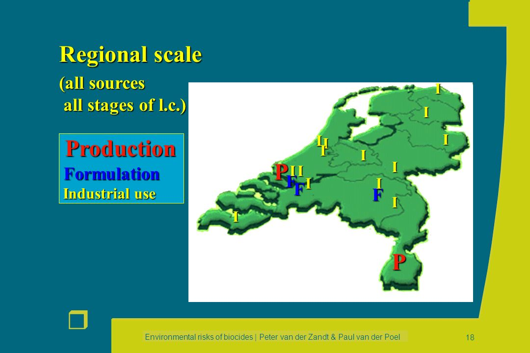 Regional scale Production P P (all sources all stages of l.c.)