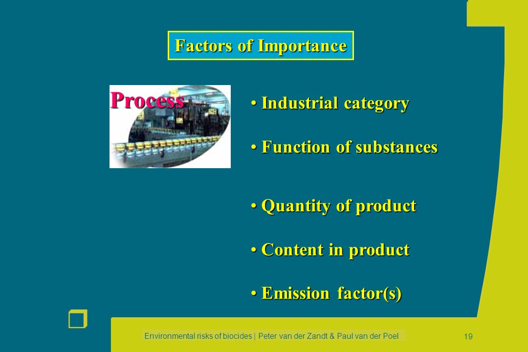 Process Factors of Importance Industrial category