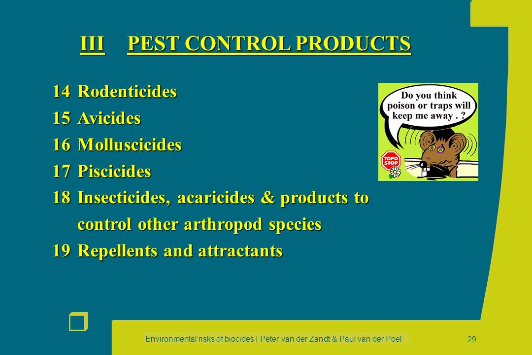 III PEST CONTROL PRODUCTS