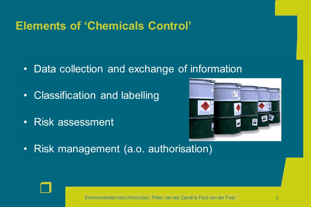Elements of 'Chemicals Control'