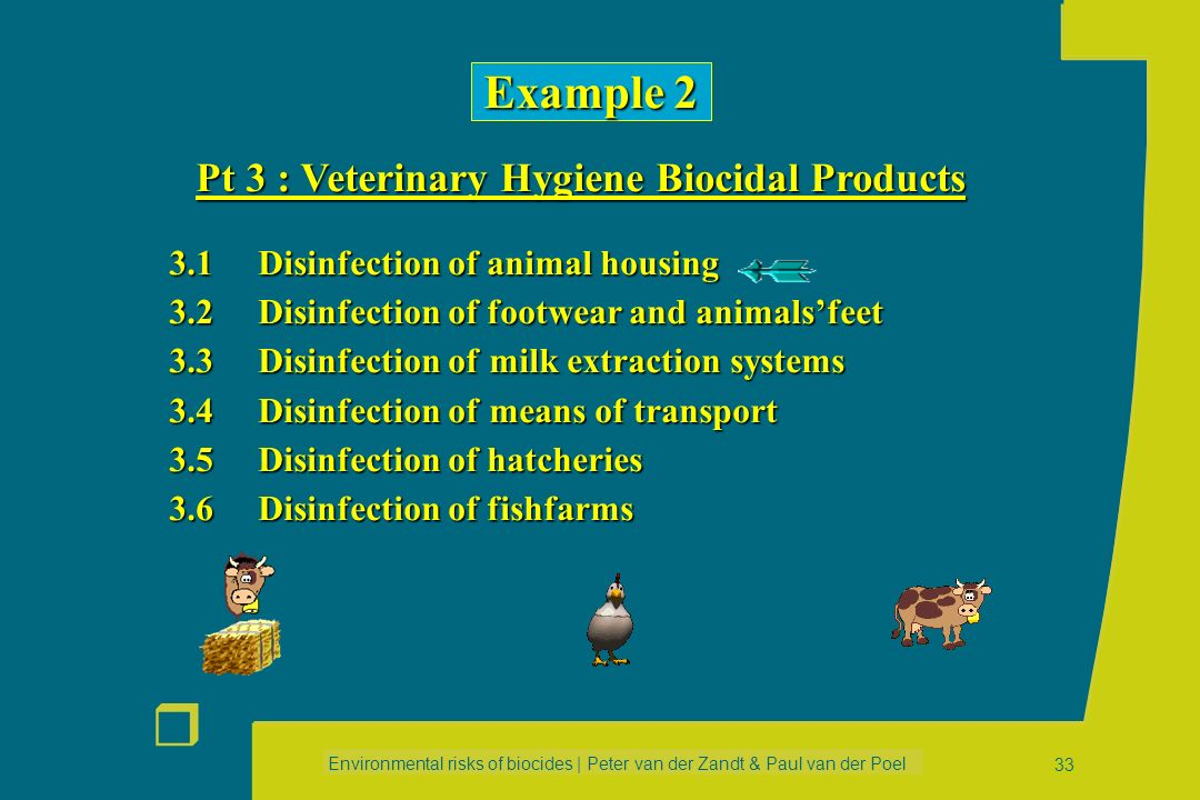 Example 2 Pt 3 : Veterinary Hygiene Biocidal Products