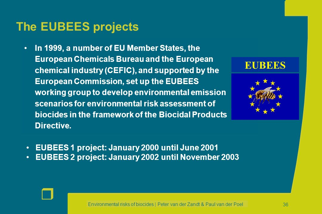The EUBEES projects EUBEES