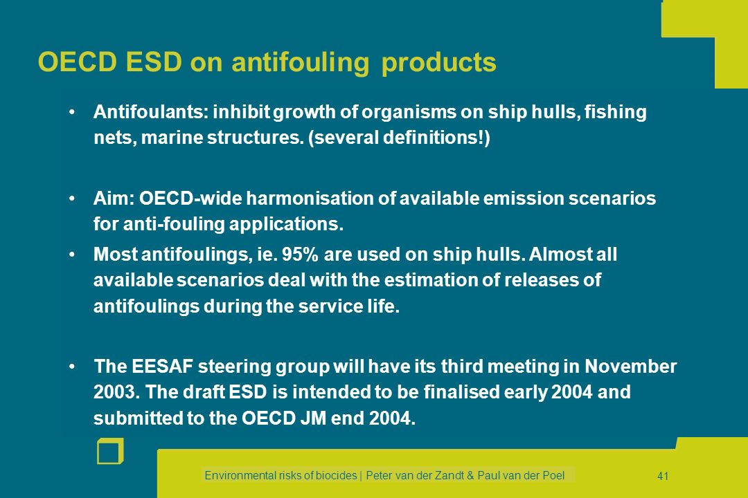 OECD ESD on antifouling products