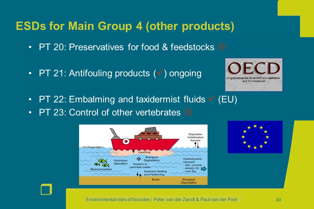 ESDs for Main Group 4 (other products)