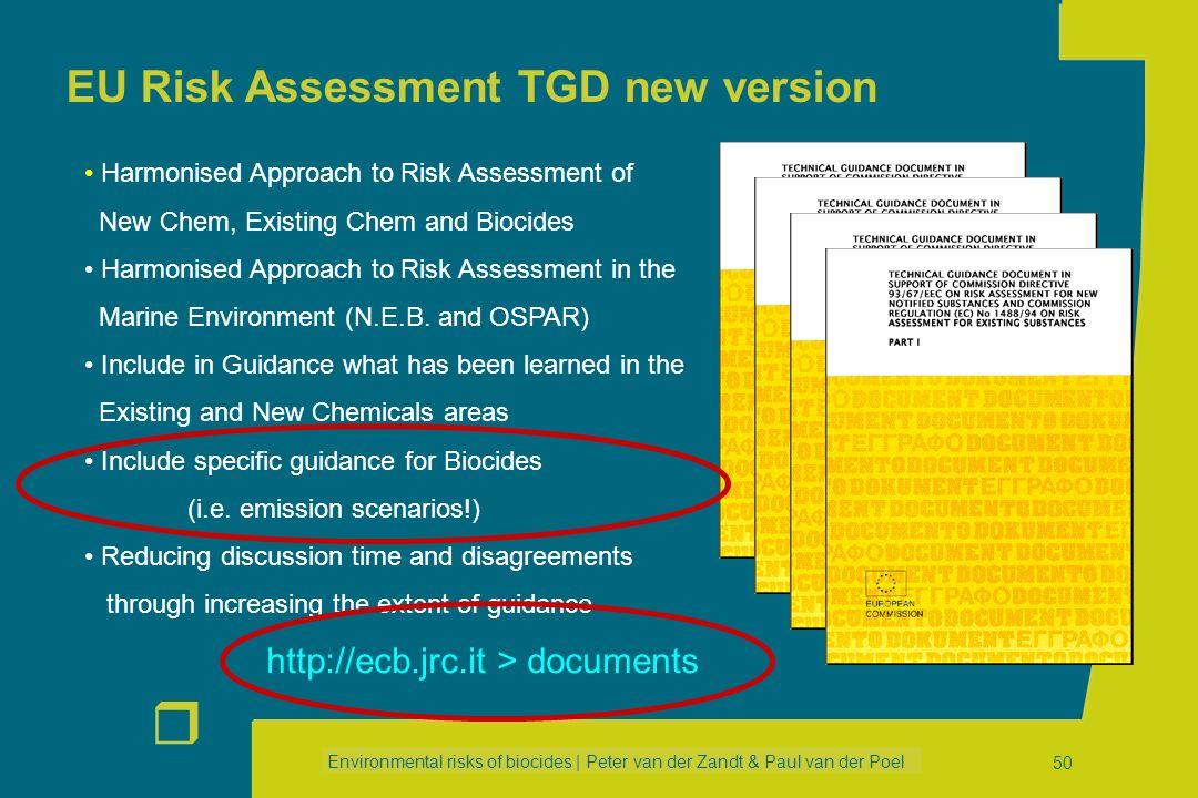 EU Risk Assessment TGD new version