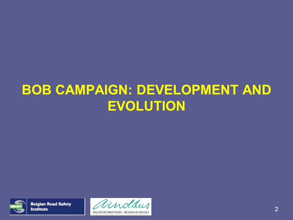 BOB CAMPAIGN: DEVELOPMENT AND EVOLUTION