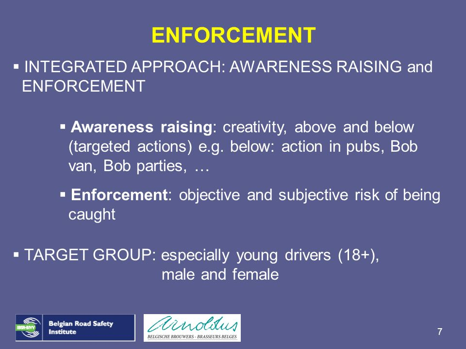 ENFORCEMENT INTEGRATED APPROACH: AWARENESS RAISING and ENFORCEMENT