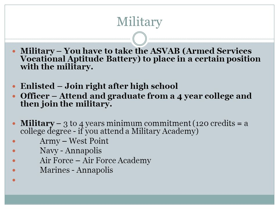 Education options after high school ppt download - How to become an army officer after college ...