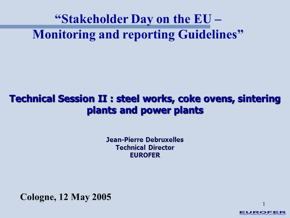 Stakeholder Day on the EU – Monitoring and reporting Guidelines