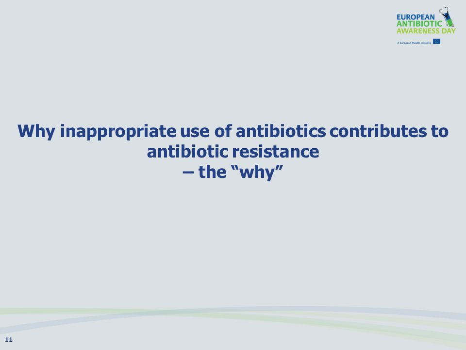 Why inappropriate use of antibiotics contributes to antibiotic resistance – the why