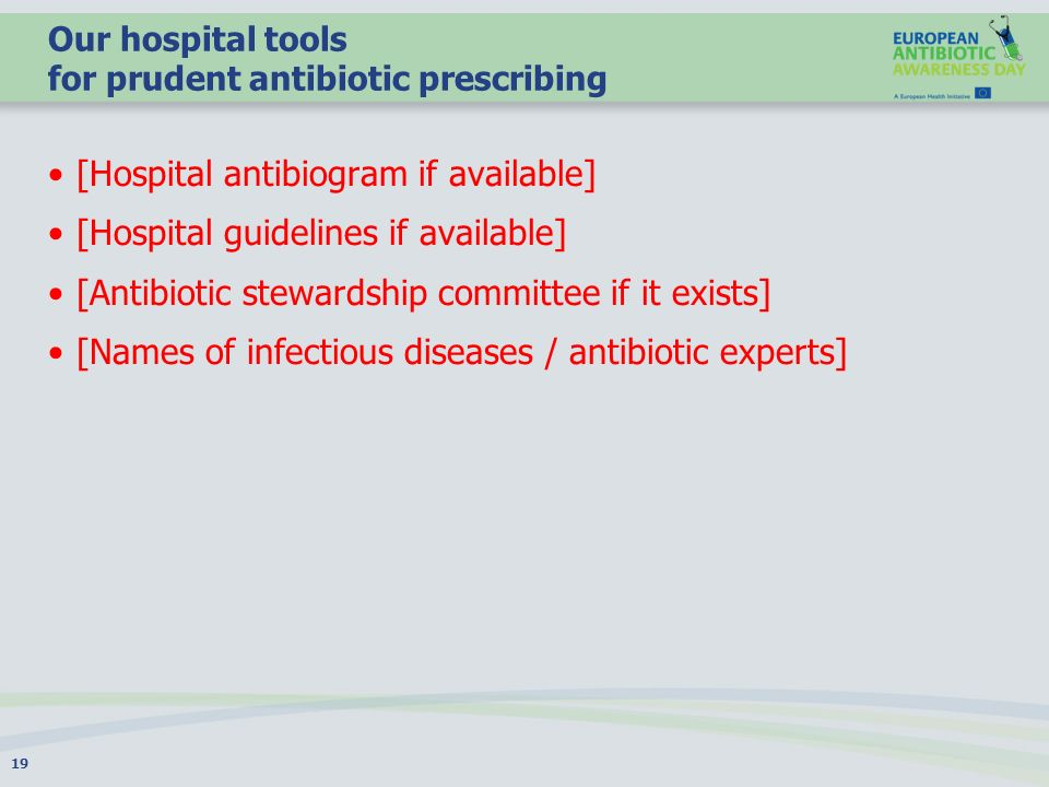 Our hospital tools for prudent antibiotic prescribing