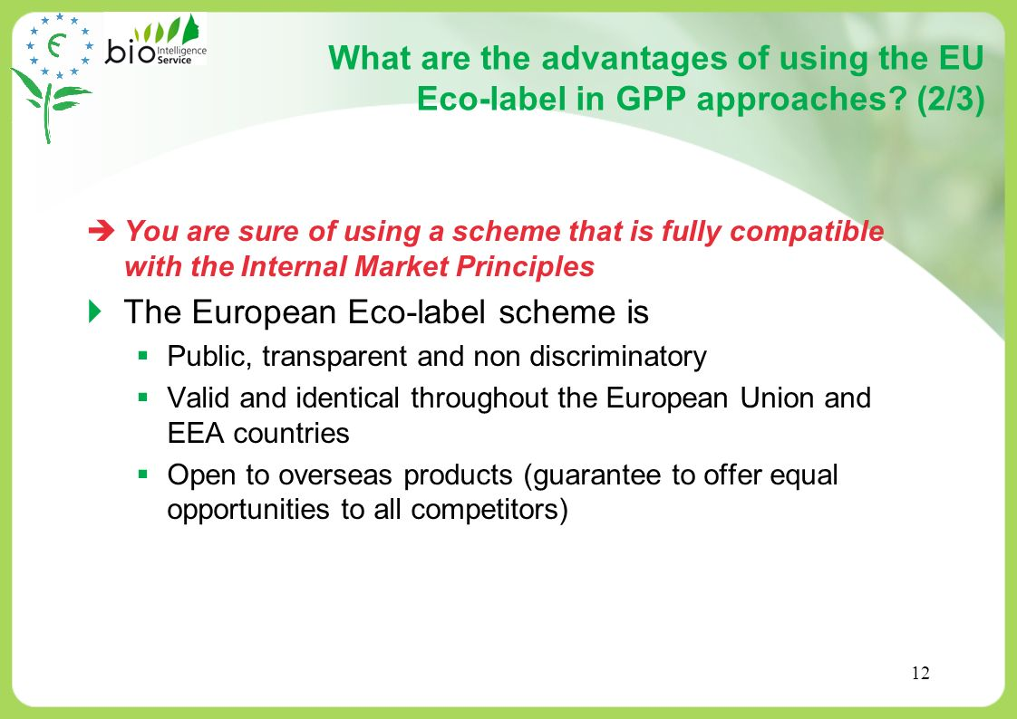 The European Eco-label scheme is