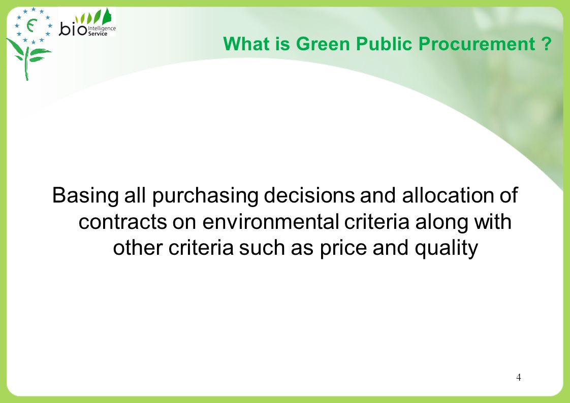 What is Green Public Procurement