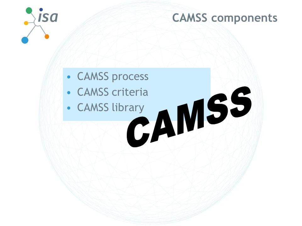 CAMSS components CAMSS process CAMSS criteria CAMSS library CAMSS