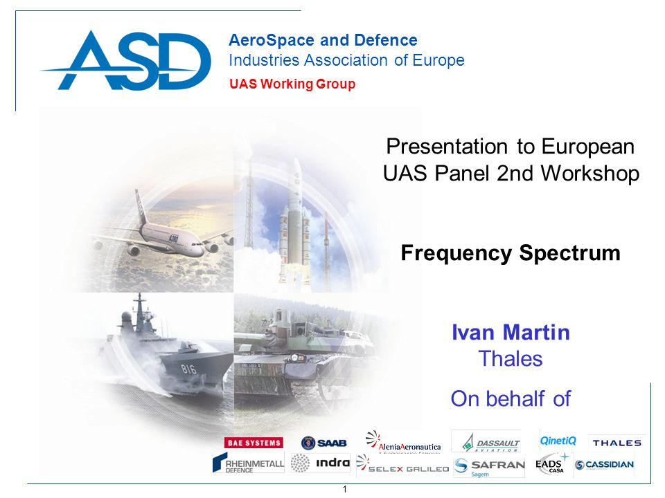Presentation to European UAS Panel 2nd Workshop