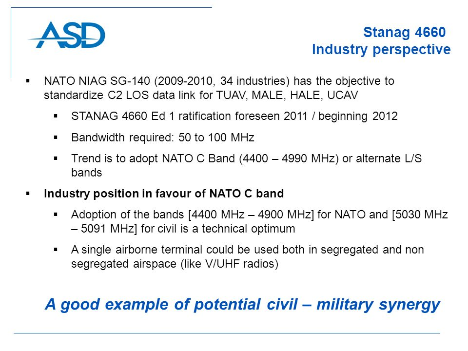 Stanag 4660 Industry perspective