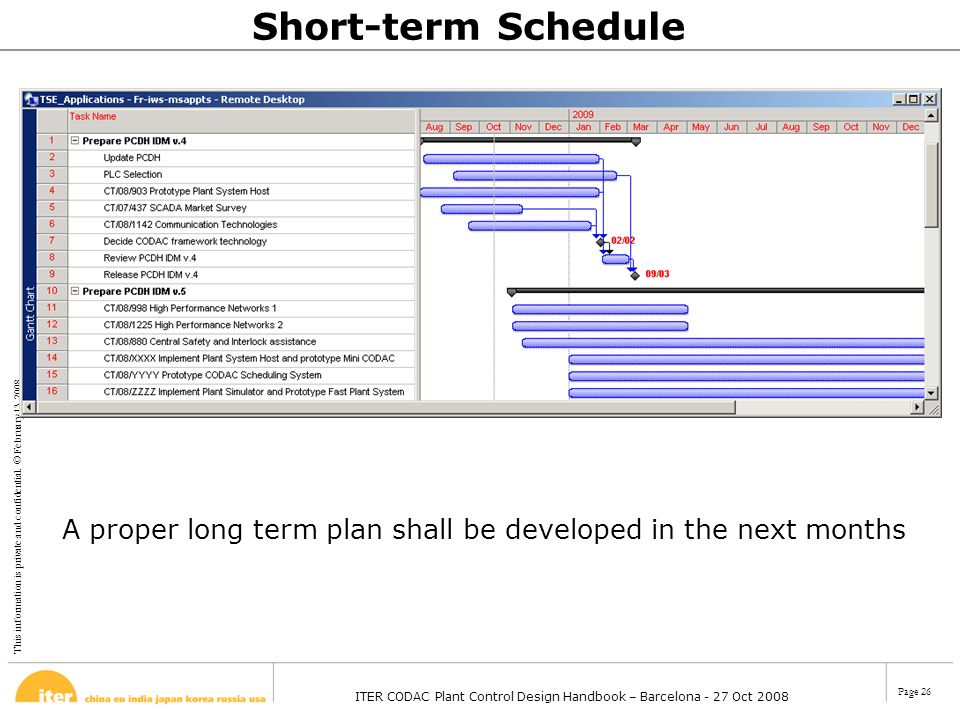 A proper long term plan shall be developed in the next months
