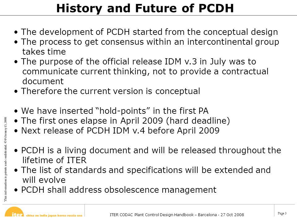 History and Future of PCDH