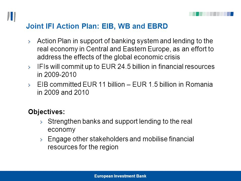 Joint IFI Action Plan: EIB, WB and EBRD