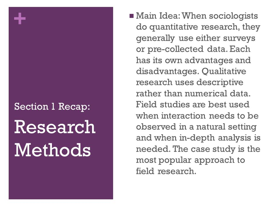 case study method sociology Case study research method sociology-research methods  a case study is a research method that relies on a single case rather than a population or sample when researchers focus on a single case, they can make detailed.