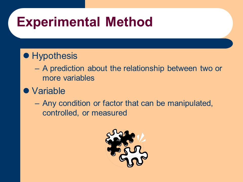 hypothesis and experimental approach To organize an effective business experiment, consider using the approach  as  with scientific experiments, the first part of the process is to create a hypothesis.