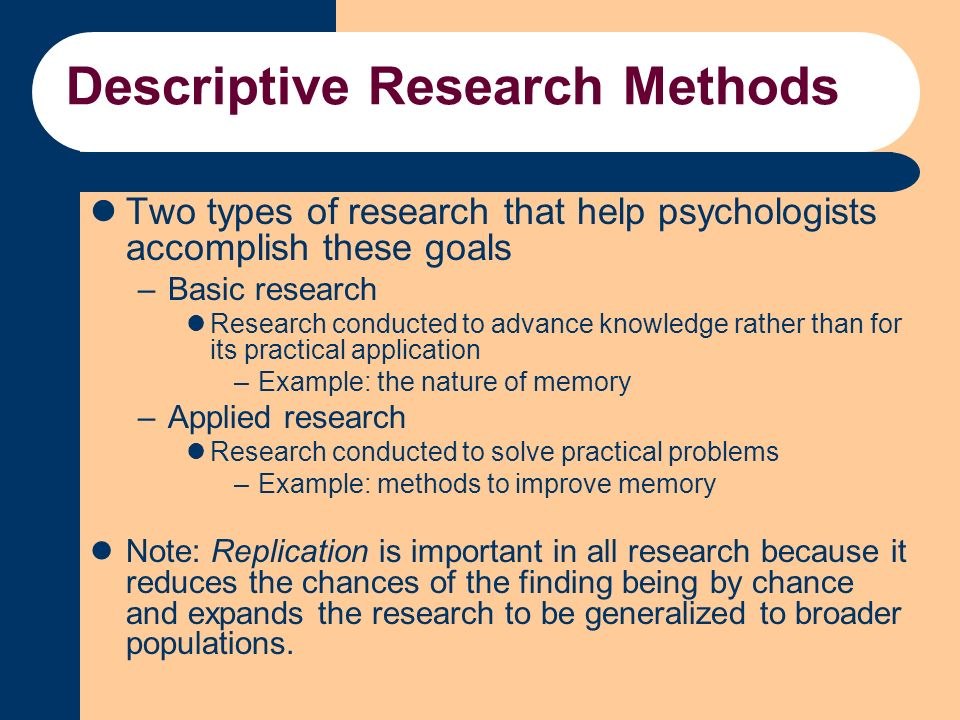 descriptive research example