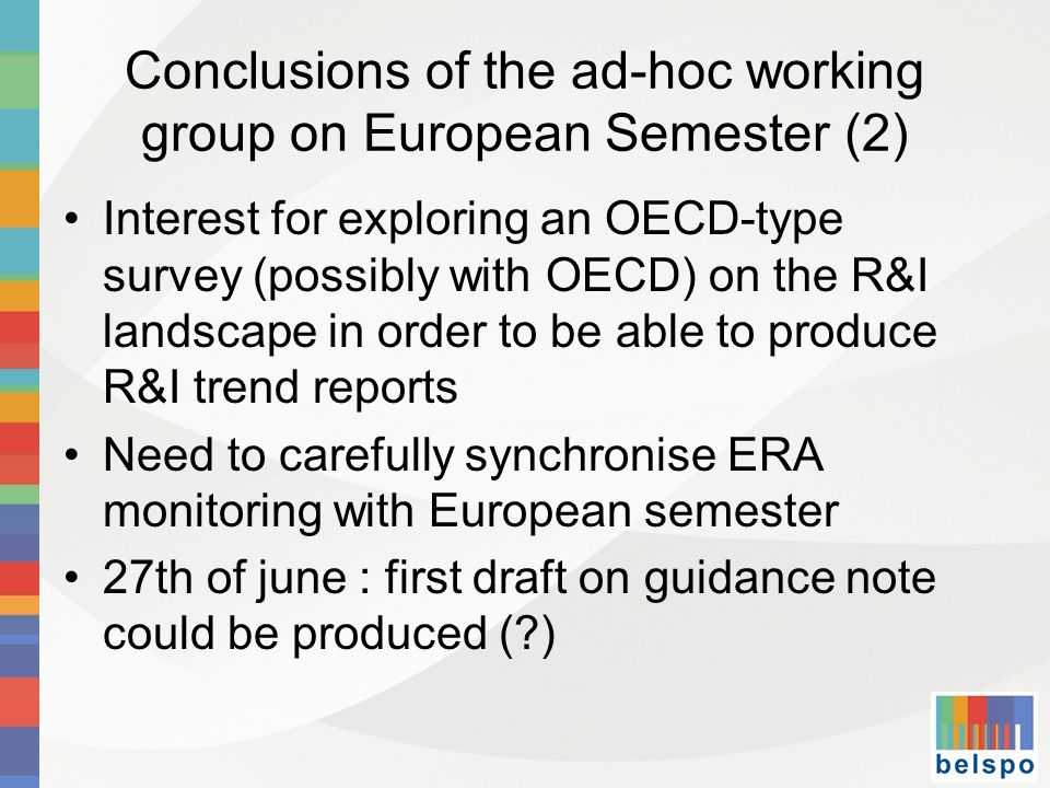 Conclusions of the ad-hoc working group on European Semester (2)
