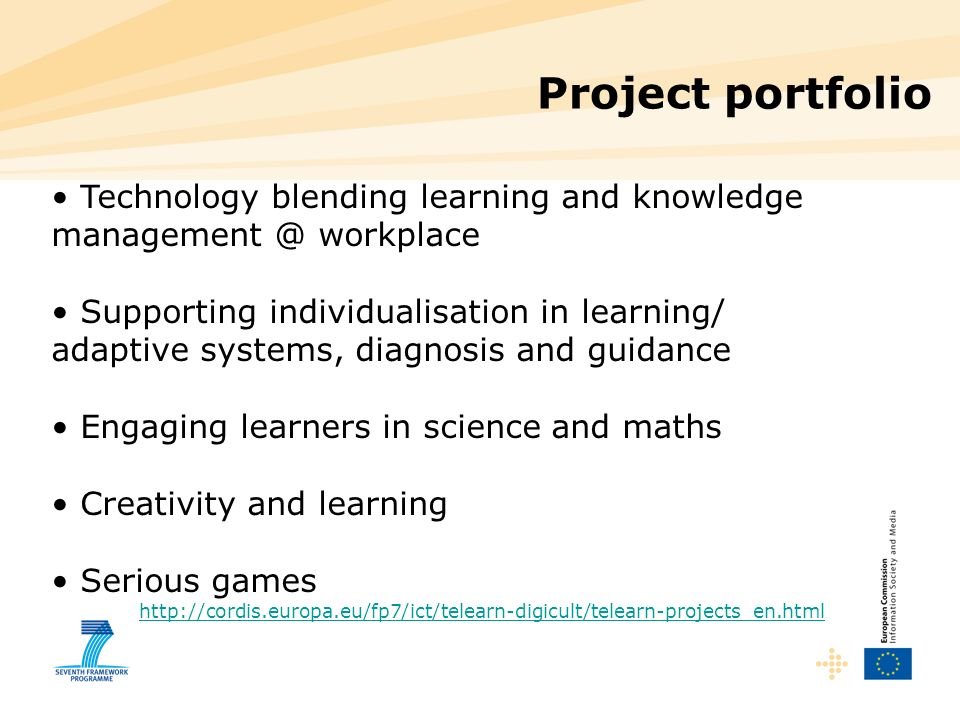 Project portfolio Technology blending learning and knowledge management @ workplace.