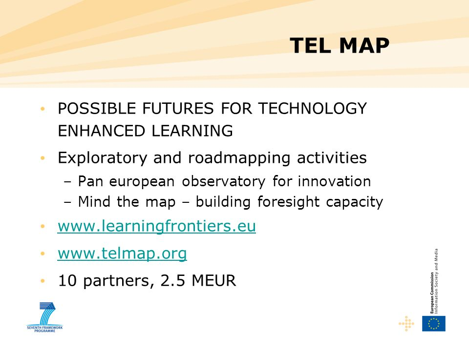 TEL MAP POSSIBLE FUTURES FOR TECHNOLOGY ENHANCED LEARNING