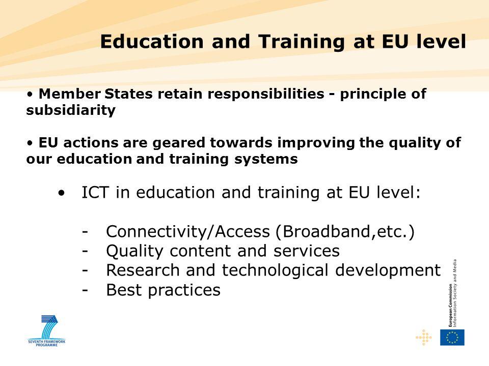 Education and Training at EU level