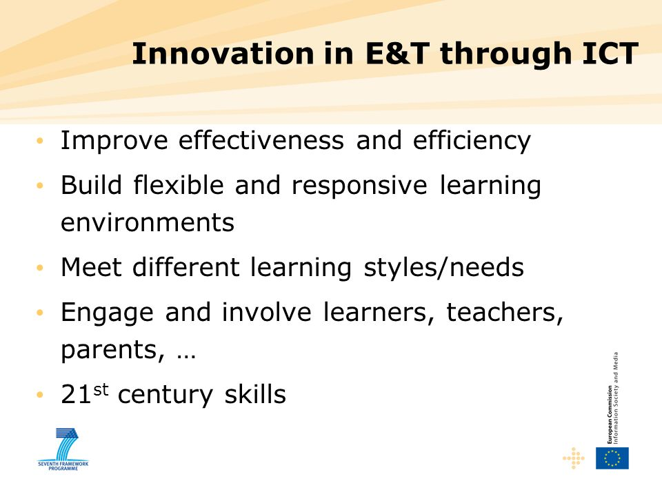 Innovation in E&T through ICT