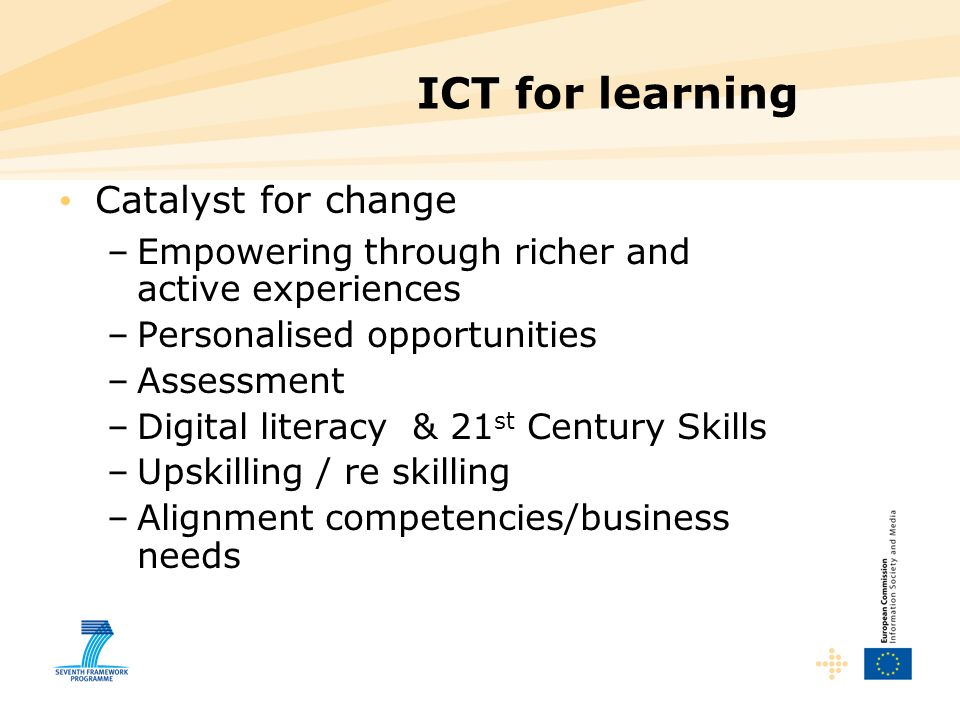 ICT for learning Catalyst for change